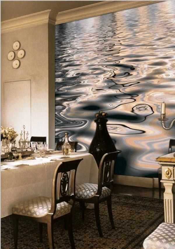 Фотообои для кухни с водной поверхностью