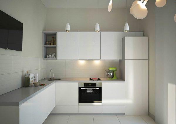 современная кухня белая