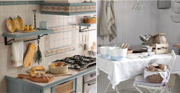 Посуда в качестве декора на кухне
