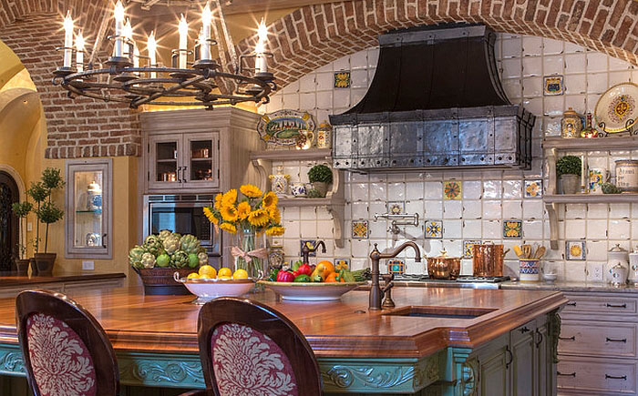 Интерьер кухни в средиземноморском стиле фото