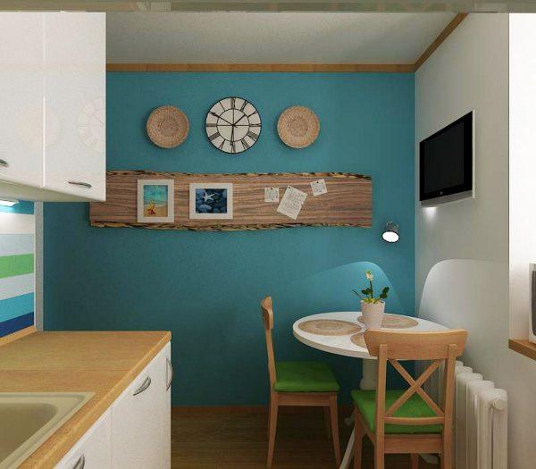 декор стены на кухне в средиземноморском стиле