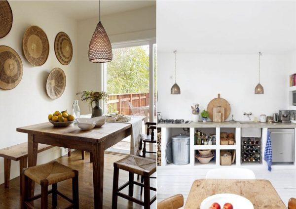 природный декор в интерьере кухни