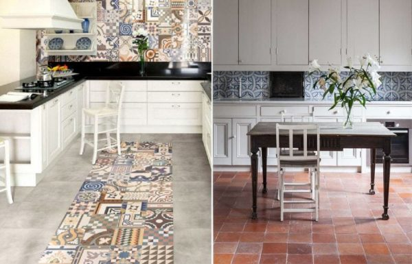 сочетание натуральных материалов в интерьере кухни