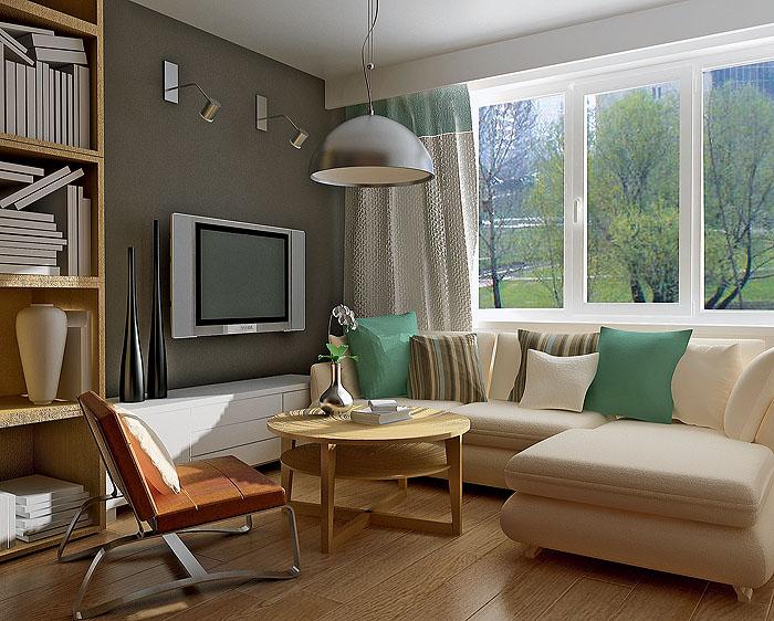 Маленький диван с кухонным столом