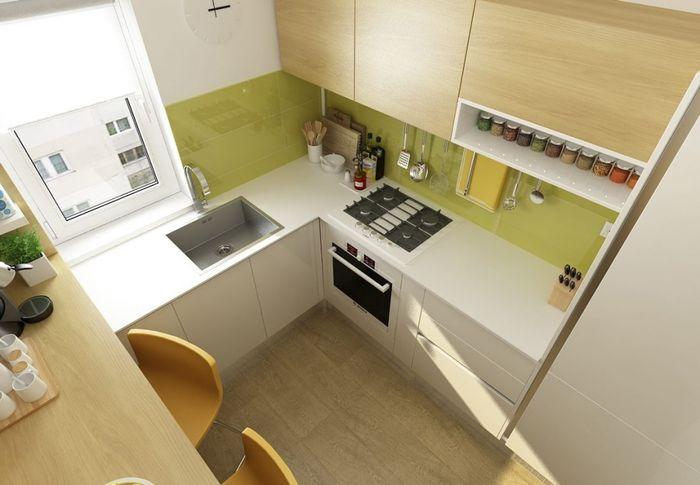 Как обустроить кухню на 2-х квадратных метрах