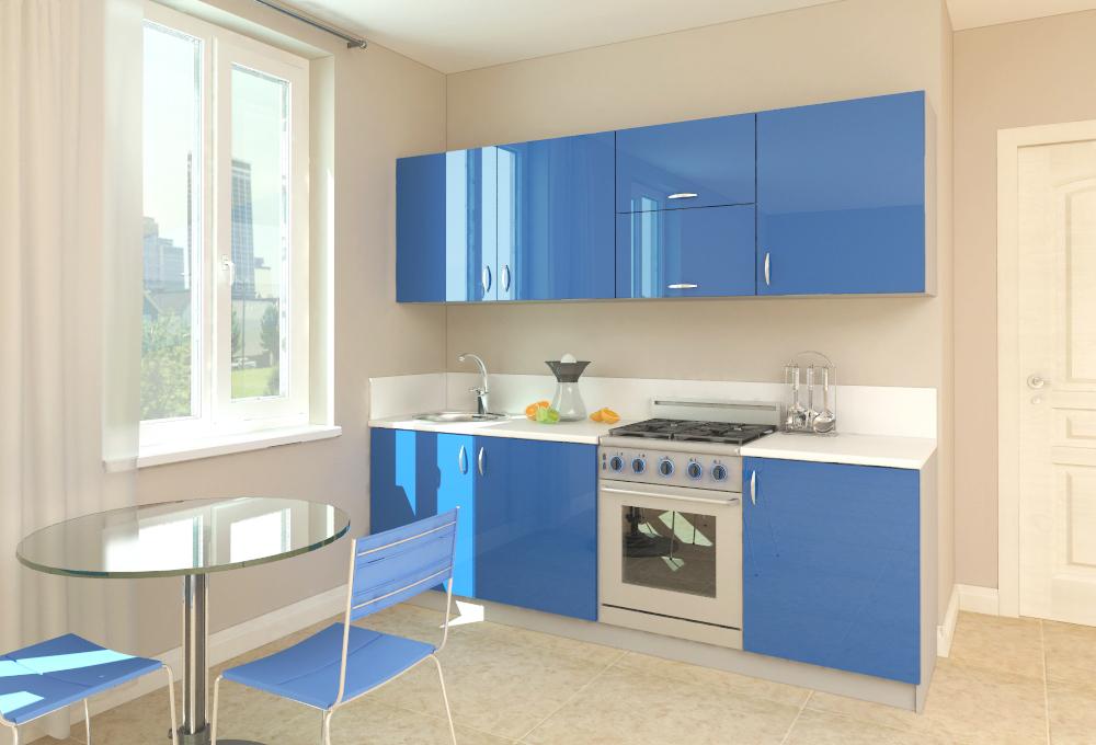 Дизайн маленькой кухни прямые
