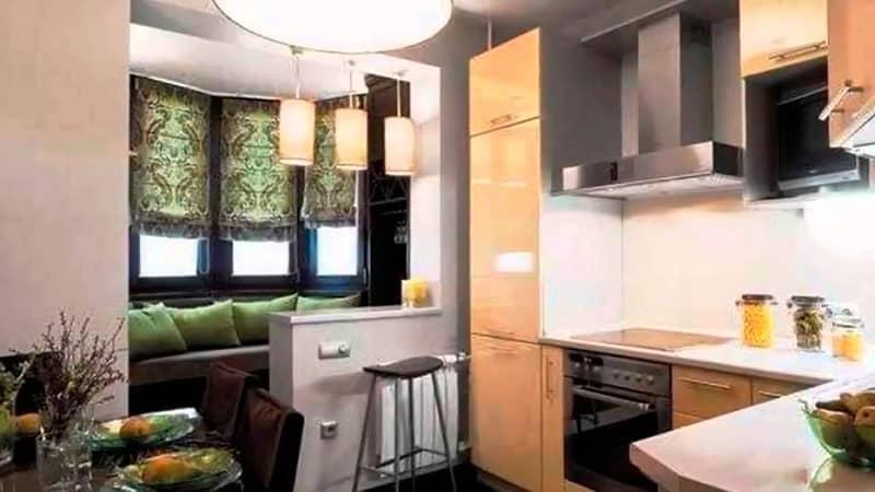 Кухня совмещенная с балконом дизайн — фото примеров оформления