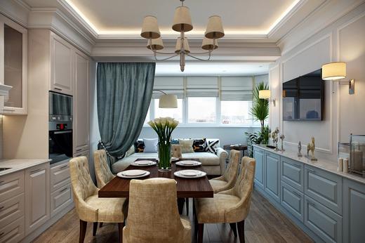 Совмещённая кухня с балконом