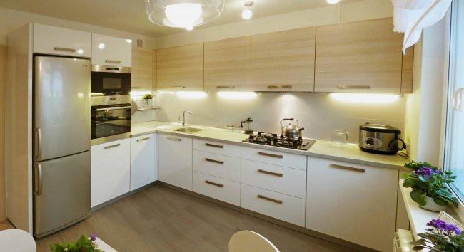 Дизайн угловой кухни 9 м2