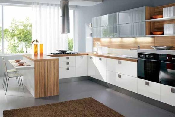 Функциональное расположение на кухне