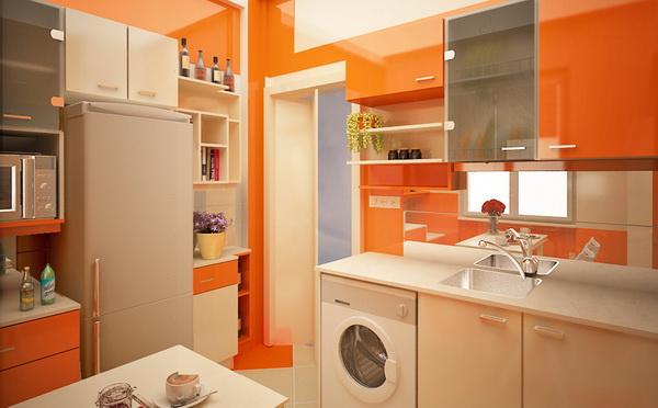 лёгкий оранжевый на кухне