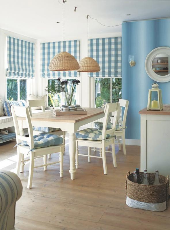 кантри на голубой кухне