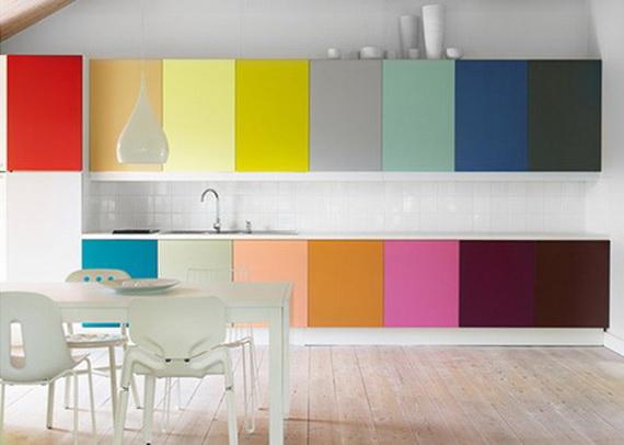 разноцветная кухня