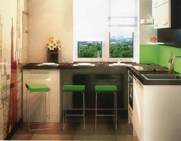 Стол для маленькой кухни у окна