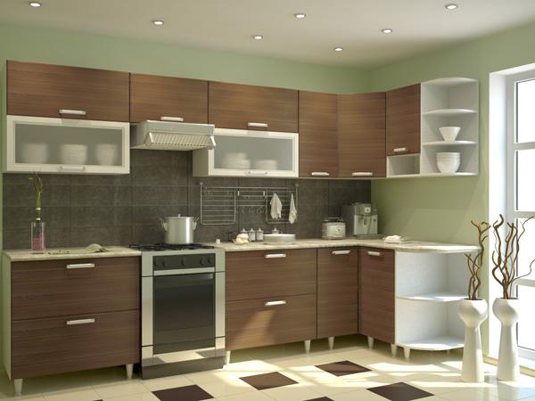 Кухня с открытыми ножками
