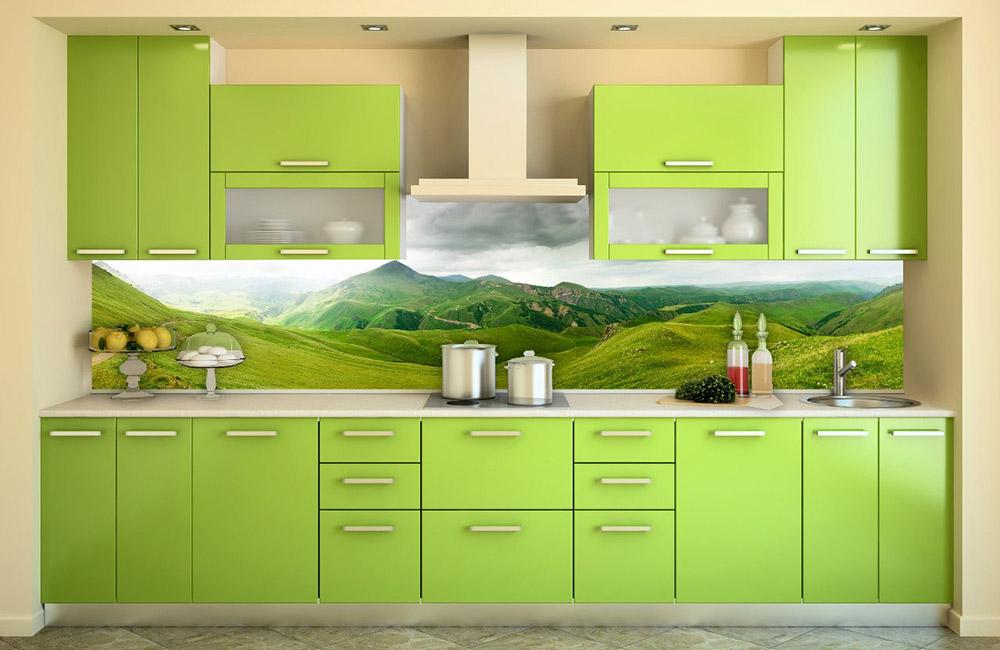 Кухонный фартук с пейзажем