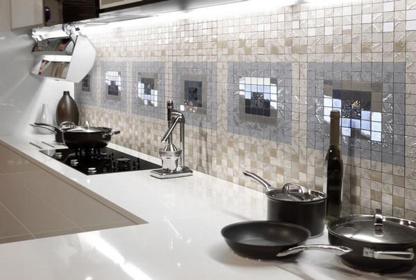 Фартук для кухни из мозаики
