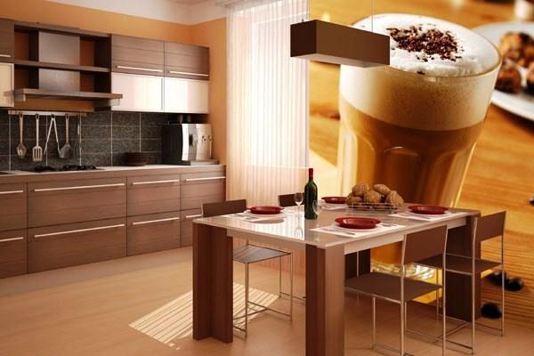 Фотообои для кухни с кофе