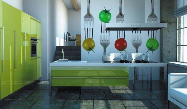 Фотообои для кухни с вилками