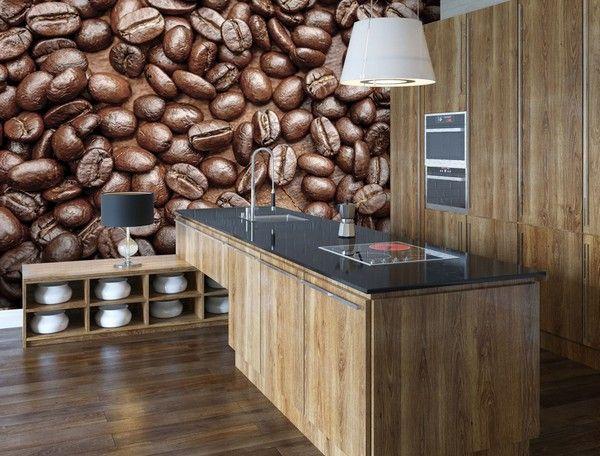 Фотообои с кофе для кухни