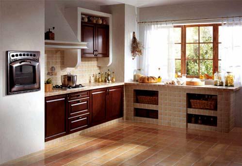 Кухня с гипсокартонными нишами