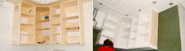 Верхние шкафы на кухни крепление