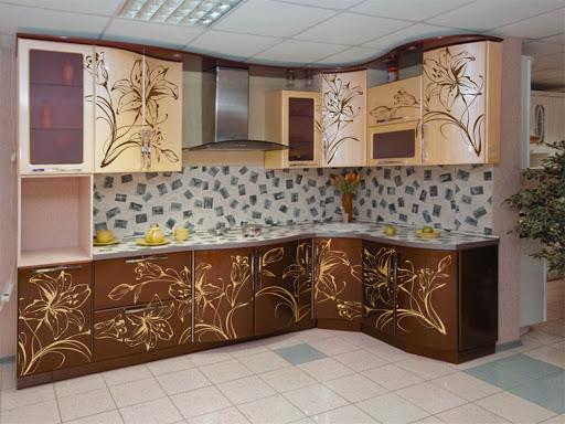 Кухня с виниловыми наклейками своими руками