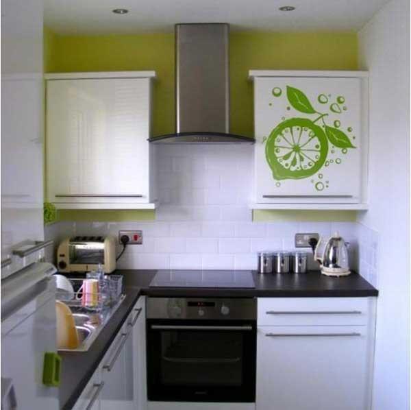 Стильный интерьер кухни в 4 кв.м.