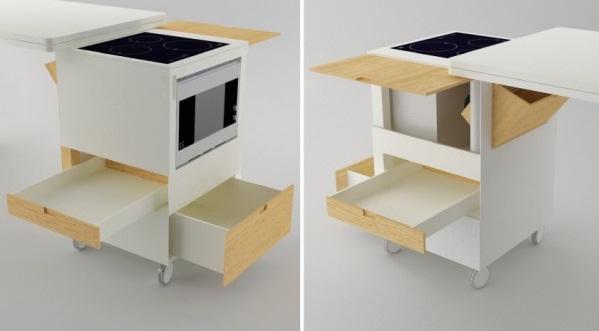 Многофункциональные кухонные шкафы