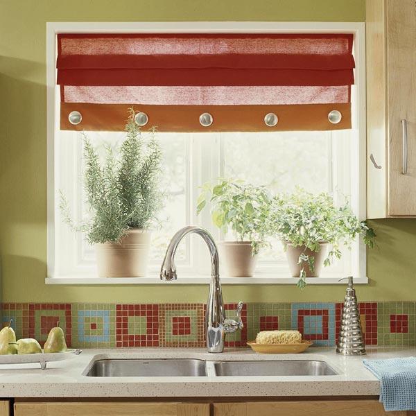 шторы-жалюзи на кухне