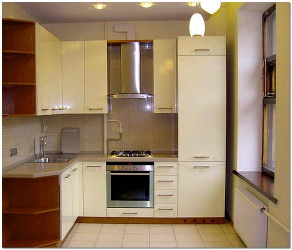 маленькая кухня белого цвета